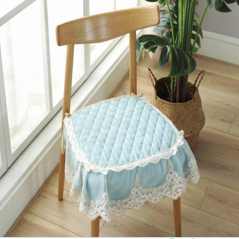 Europe Modern Solid Lace Pad Kitchen Chair Cushions Dining ...
