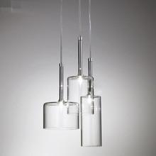 LukLoy Modern Minimalist Restaurant Transparent Glass Pendant Light Nordic Personality Creative Bar Coffee Shop LED Glass Lamps
