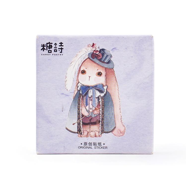 45PCS/box Creative Magic Rabbit Album Paper Lable Stickers Crafts And Scrapbooking Decorative Lifelog Sticker Cute Stationery