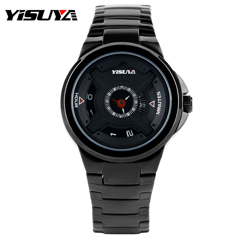 YISUYA Military Army Mens Black Stainless Steel Stylish Fashion Male Cool Unique Turntable Dial Modern Quartz Wrist Watch Gift deepika singh and amita verma floating drug delivery system a novel technology