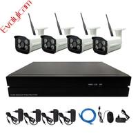 4CH Wireless 1MP 720P IP Camera CCTV System 720P 960P 1080P NVR HD P2P Onvif Wifi