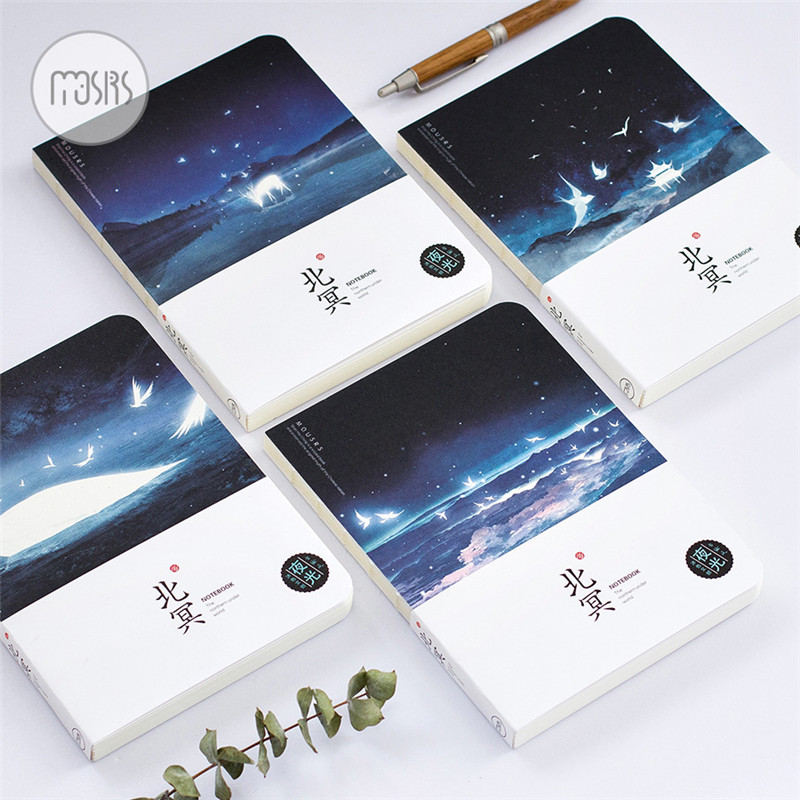 New Luminous Ocean Pattern Sketchbook Notebook Diary Book Bullet Journal Beautiful Package Diary Handbook Student Gift