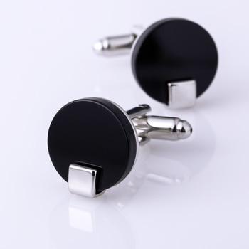 Black Round Cuff links  5