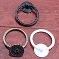 52mm * 43mm branco preto gota anéis de bronze puxadores de gaveta puxa maçanetas de móveis vintage