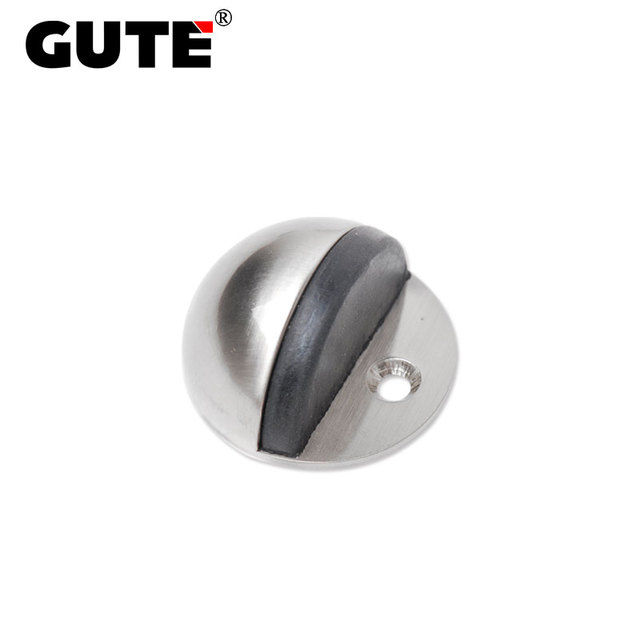 GUTE Hemisphere Door Stop Floor Mounted Door Catcher Zinc Alloy Brushed Door  Stopper Buffer Holder