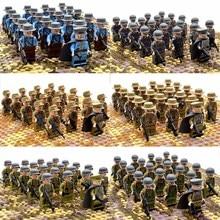 21 шт./компл. WW2 Армия легоs Военные строительные блоки Франция, Италия Япония Великобритания Китай маленький солдат полицейский оружие Кирпичи Игрушки