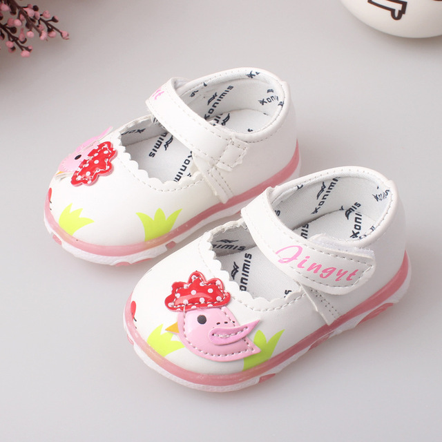 new Brand Leather Lovely Kids Children Sneakers Shoes For Girls Princess New 2016 Autumn Spring