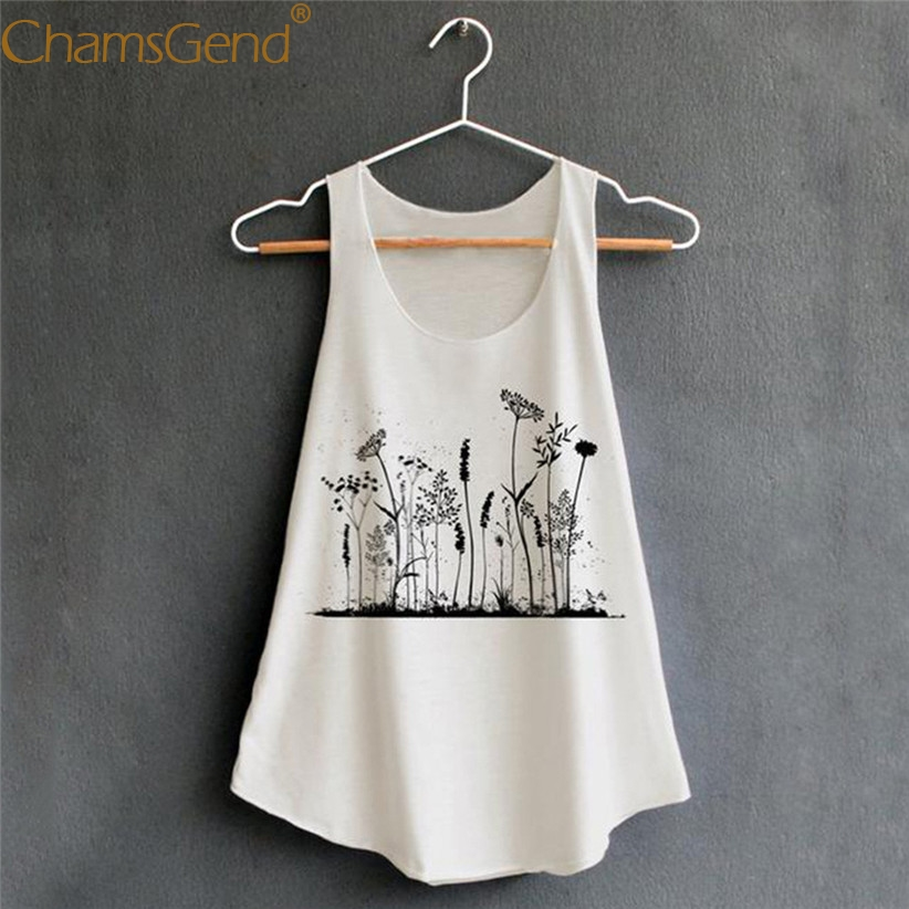 Women Casual Sleeveless Shirt U Collar Loose   Tank     Top   Woman Printing Apparel Female Summer Shirts Blouse   Tanks   90226