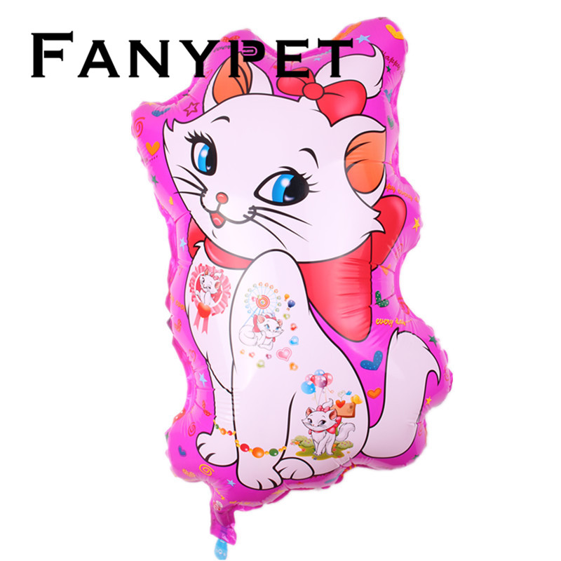 b9a240922 New 10pcs/lot Cartoon Pink Marie Cat Balloons Kids Gift Character Print  balaoes Birthday Party Decoration Gift Wholesale