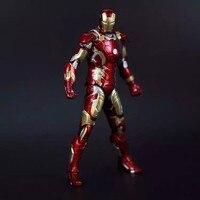 Marvel Homem De Ferro 3 Figura de Ação de Super-heróis Homem De Ferro Tonny Mark 42 Mark 43 PVC Figure Toy 18 cm Chritmas Presente Frete Grátis