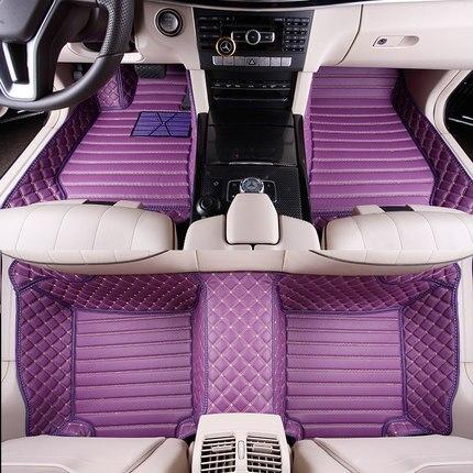 Полная покрыта специальным автомобильные коврики для Honda CRV XRV Odyssey Accord Fit jade City Civic rugs водонепроницаемый прочный ковры