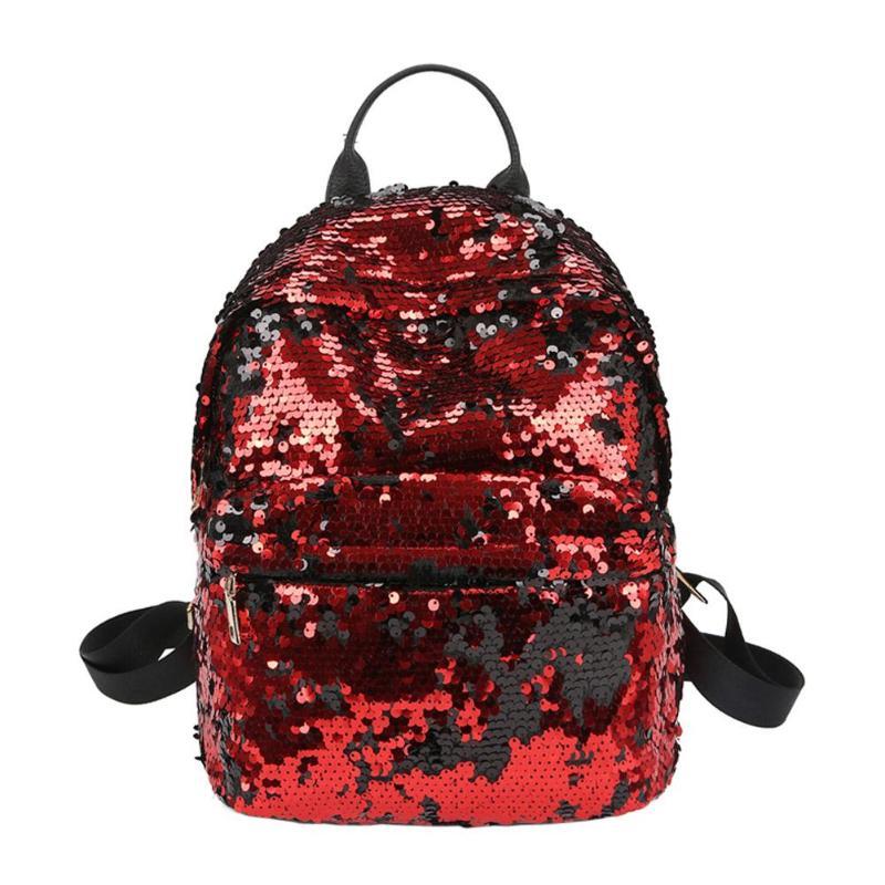 Sequins Glitter Bling Backpacks Teenager Girls PU Leather Backpack Girls Shoulder School Bag Travel Rucksack 16