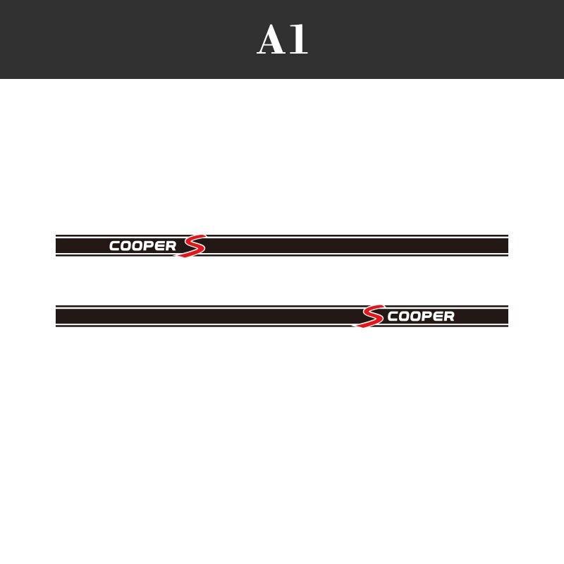 1 пара, 2 шт., виниловые автомобильные наклейки на боковые стороны юбки, автомобильные наклейки для BMW Mini Cooper S Countryman Seven Clubman John Paceman