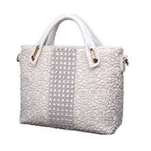 2016 Genuine Leather Bags Crocodile Handbags Women Famous Brands Designer Lace Shoulder Bag Casual Tote Crossbody Messenger Bags