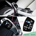 3D //M Logo ABS Car Motorsport Gear Knob Trim Stickers Decoration Car-styling Covers for BMW 1 3 5 7 Series X1 X3 X5 Accessories