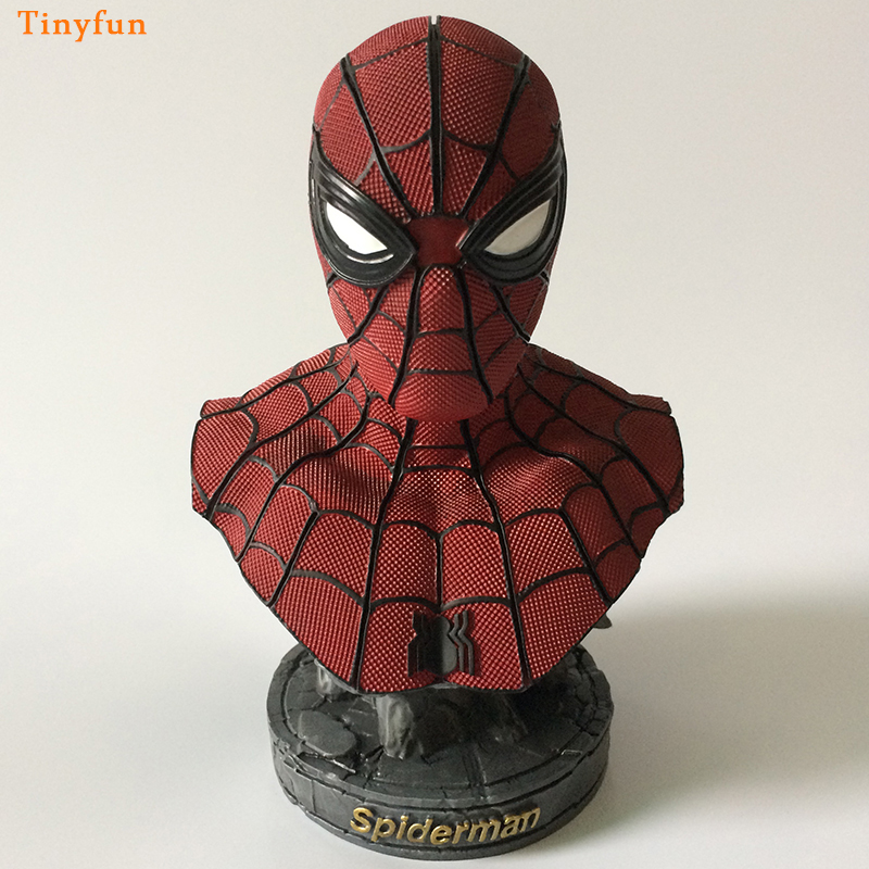 Spider-man Bust Resin Action Figure 1/8 Scale Painted Figure Spider Man Bust Doll Resin Figure Garage Kit Toy Brinquedos Anime Toys & Hobbies