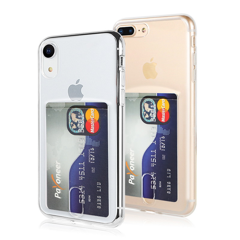 Transparent Soft TPU Card Holder Case for iPhone 11/11 Pro/11 Pro Max 1