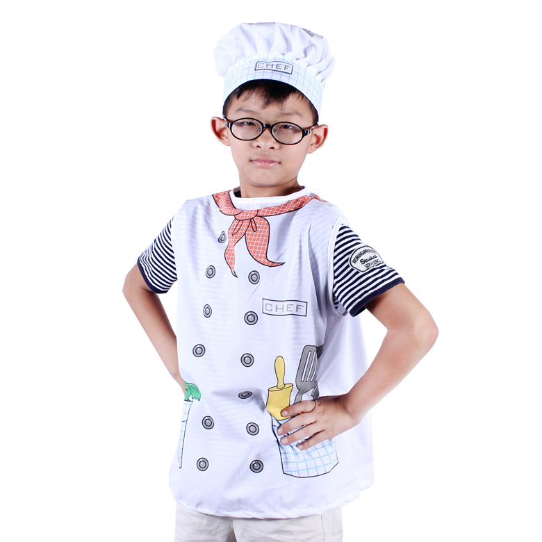 Free shipping,Children Christmas Halloween cosplay  costume chef clothing for kids