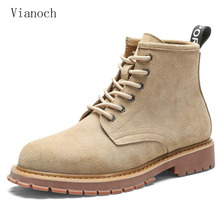 Fashion New Autumn Spring Ankle Boots Men Suede Casual Shoes Lace Up Work Shoe Man men0055