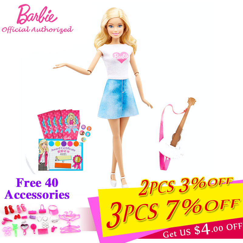 Barbie Girl Pretend Toy Series Fashion Barbie Pink Envelope Pretty Girl Toy with Dress Accessories Brinquedos For Kid's Gift