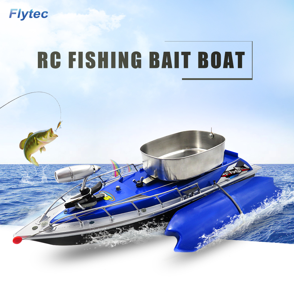 Flytec Intelligent Wireless Electric RC Boat Fishing Bait Boat Remote Control Fish Finder Ship Searchlight Toys