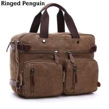 Для мужчин большой коричневые сумки многофункциональный мужчины Crossbody сумка мужская больше сумки холст сумки на плечо