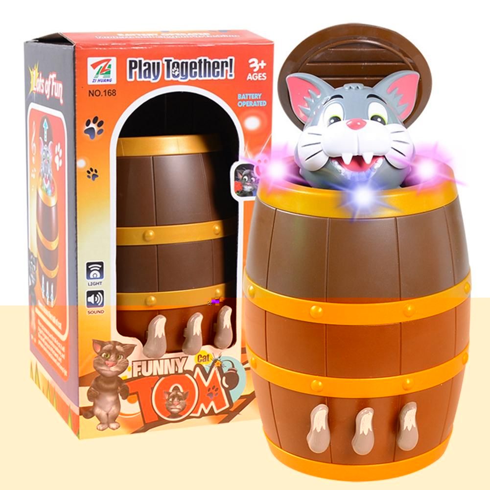 LeadingStar Funny Strange Tricky Electric Music Cat Pranks Make Pirate Bucket Puzzle Creative Toys Christmas Halloween Props