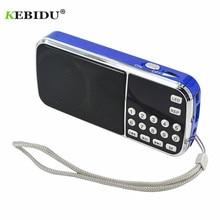 Kebidu أحدث L 088 المحمولة ايفي المتكلم مصغرة MP3 مشغل موسيقى الصوت مصباح يدوي مكبر للصوت مايكرو SD TF FM راديو المصباح