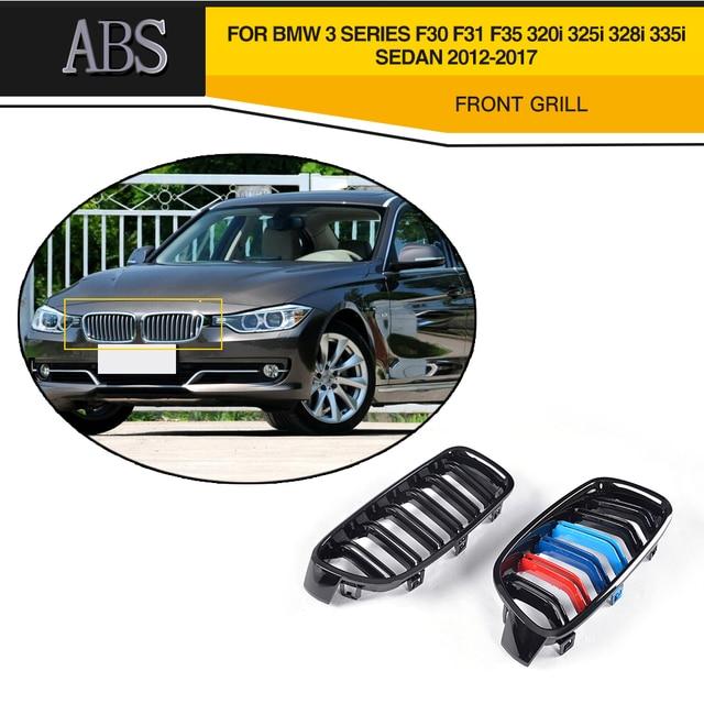 For F30 ABS Front Bumper Grille Trim For BMW 3 Series F30 F31 F35 320i 325i 328i 335i Sedan 4 Door 2012-2017