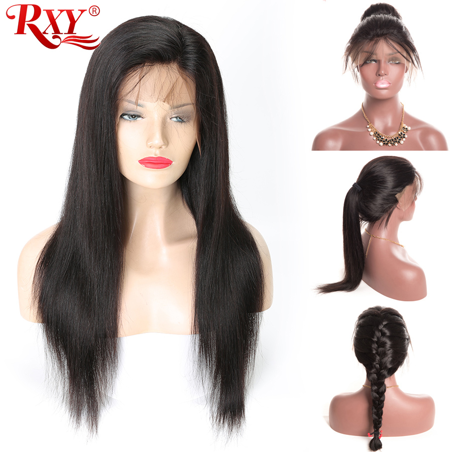 Pre Plucked Straight Full Lace Wig With Baby Hair Peruvian Human Hair Wigs For Black Women