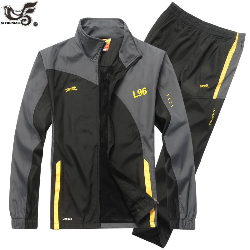 Brand Tracksuit Men Two Piece Clothing Set Casual Hoodies Sweatshirt Sportswear Sweatsuit Training Track Suit Size L~4XL