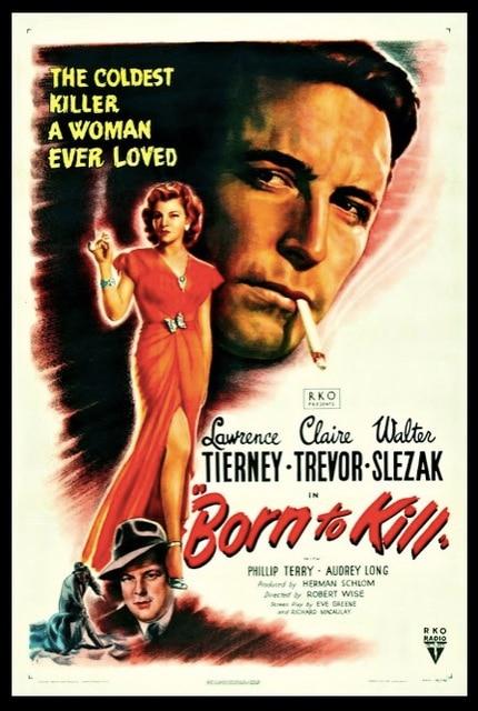 Born To Kill Classic Movie Film Noir Retro Vintage Poster Canvas