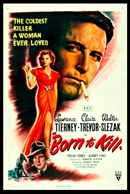 Born to Kill Classic Movie Film Noir Retro Vintage Poster Canvas Painting DIY Wall Paper Home Decor Gift image