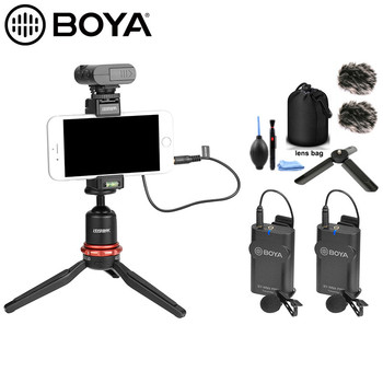 BOYA BY-WM4 Pro Wireless Lavalier Microphone system for Canon Nikon Sony DSLR Camera Camcorder iphone android smartphone