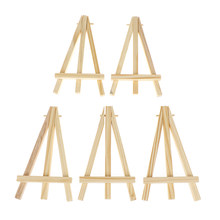 5pcs Wooden Table Card Stand Easel Mini Artist Photo Display Triange Holder Party Decoration Supplie(China)