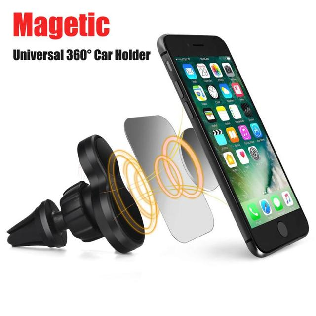 d25a6aa17c10 US $1.41 29% OFF Car Styling Car Accessories Universal 360 Cell Phone GPS  Air Vent Magnetic Car Mount Cradle Holder For Focus Passat Universal-in ...