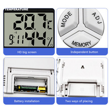 Indoor Room HTC-1 LCD Electronic Temperature Humidity Meter Digital Thermometer Hygrometer Weather Station Alarm Clock