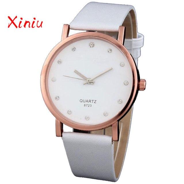 Women Wrist Watches Female Zegarek Damski Ladies Fashion Rhinestone Pu Leather Analog Quartz Watch Clock reloj mujer 2018 New
