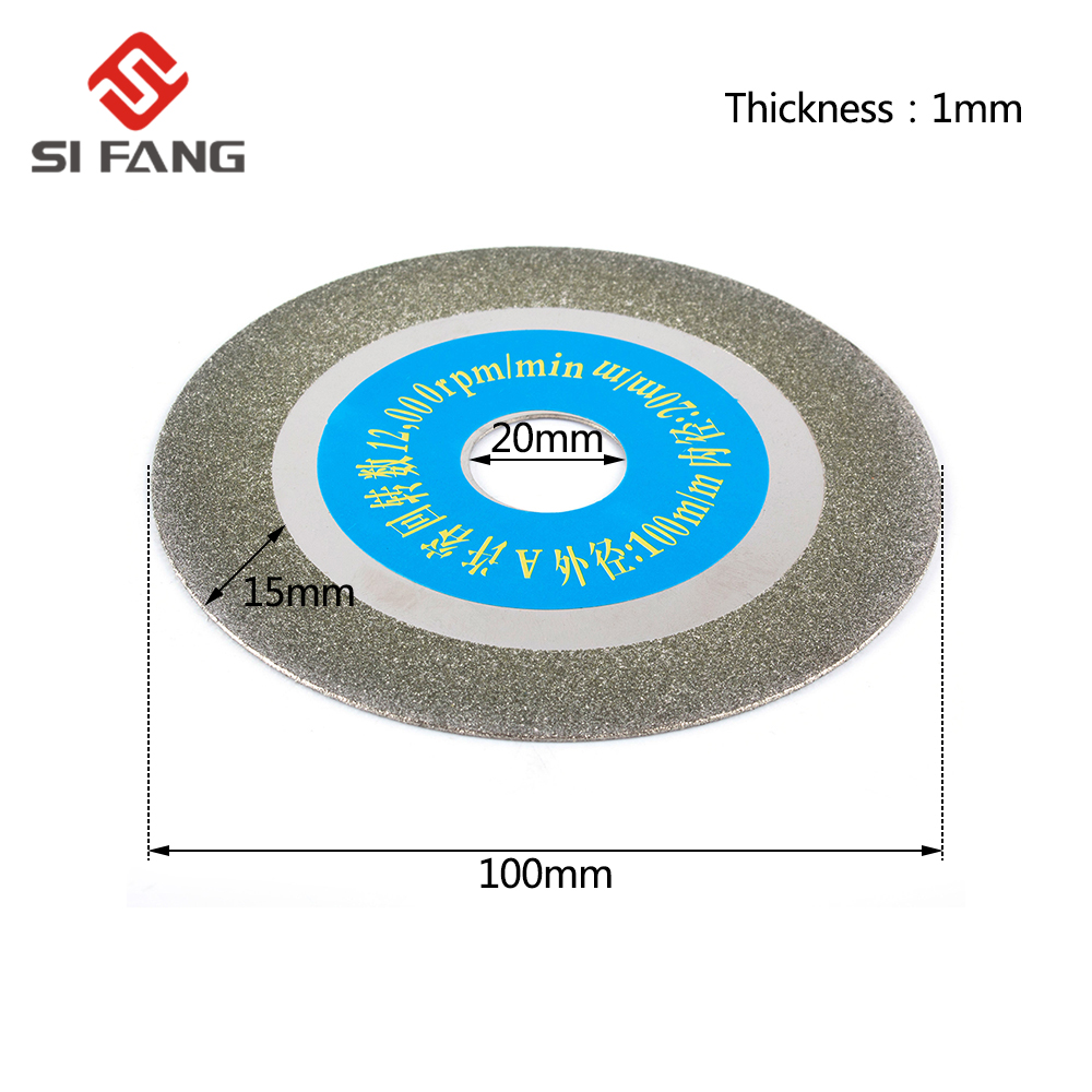 New High Quality 100mm Diamond Saw Blade Abrasive Disc Glass Ceramic Cutting Wheel For Angle Grinder