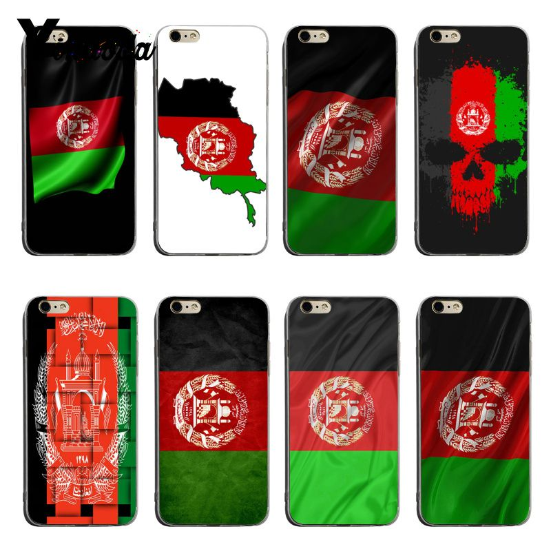 Yinuoda Afghan <font><b>Afghanistan</b></font> AF flag Banner Protective transparent soft tpu Phone Case For iPhone X XS XR XsMax 8plus 6 6s 7 7plus image