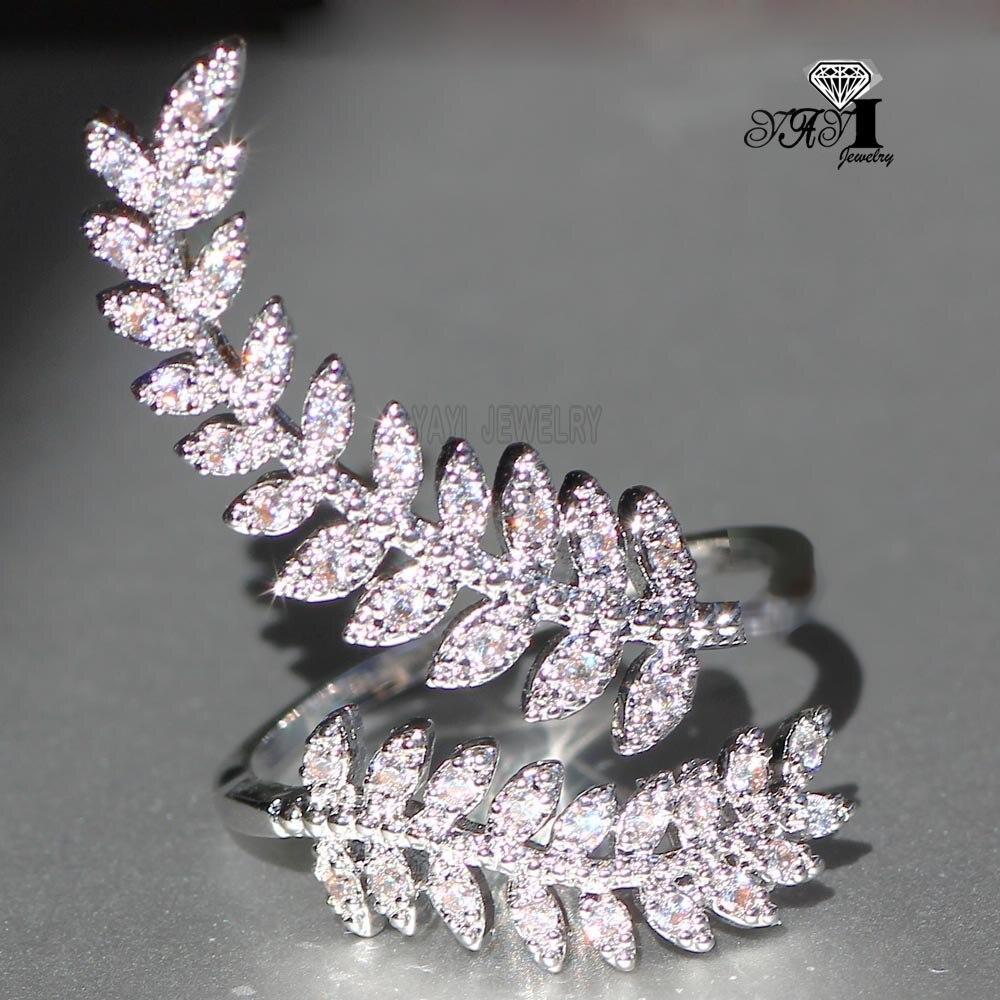 YaYI ювелирные изделия Принцесса Cut 3,6 CT Белый Циркон Серебро Цвет обручальные кольца свадебное сердце Регулируемые кольца для вечерние подарки