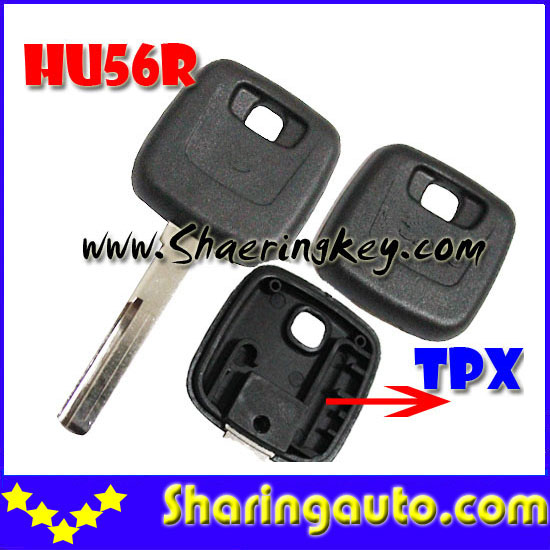 Free shipping transponder key blank key case for Volvo for TPX chip HU56R Blade 10pcs/lot  10pcs lot ys31 cn5 g chip used for mini cn900 and nd900 key copy machine free shipping