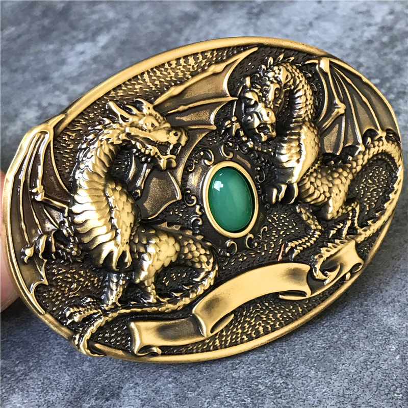 Belt Buckle Brass Men Belt Diy 3D Dragon Belt Accessories TOP Quality Cowboy Luxury Belts Buckle Metal Men BK0077