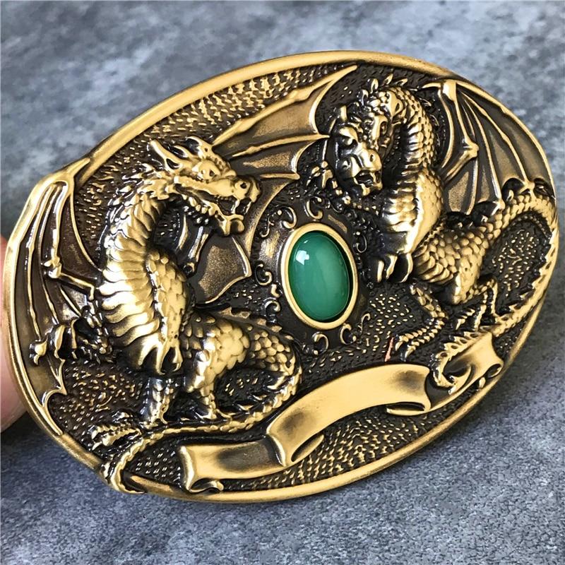 Belt Buckle Brass Men Belt Diy 3D Dragon Belt Accessories TOP Quality Cowboy Luxury Belts Buckle Metal Men BK0077
