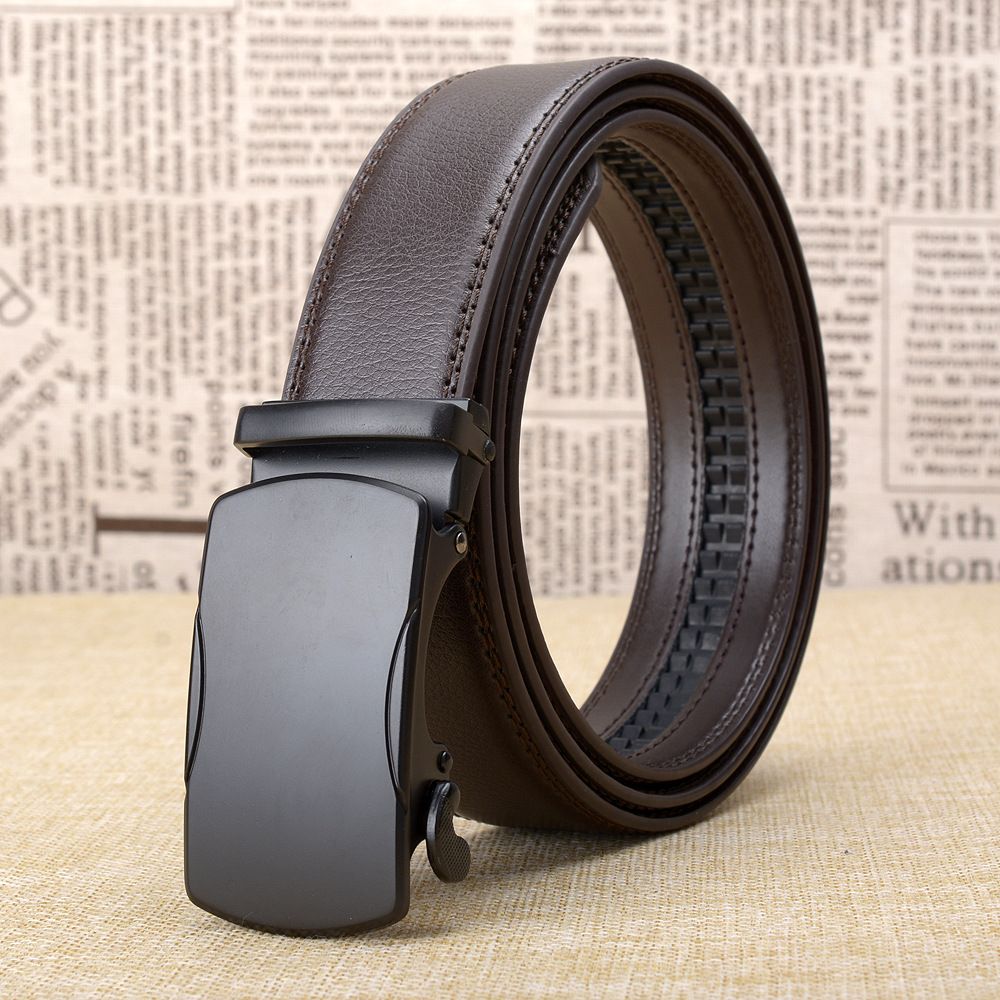 Famous Brand Belt Men Top Quality Genuine Luxury Leather Belts for Men Fashion Strap Male Metal Automatic Buckle in Men 39 s Belts from Apparel Accessories