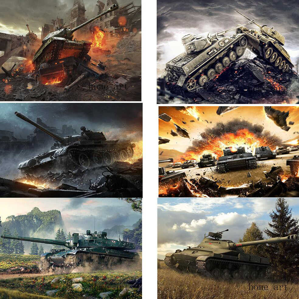 Wereld van tanks Poster Clear Afbeelding Muurstickers Woondecoratie Goede Kwaliteit Prints Wit Gecoat Papier thuis art Merk