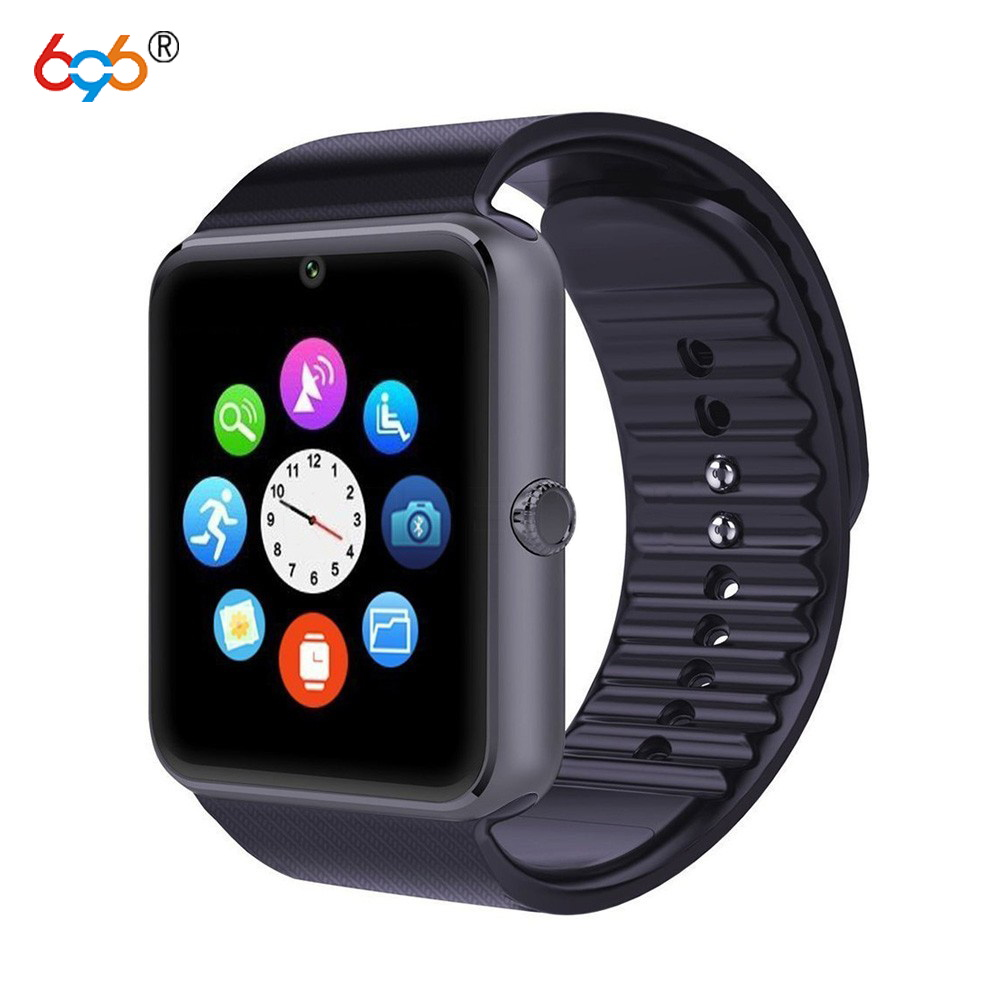 696 Bluetooth Smart Watch GT08 For Apple iphone IOS Android Phone Wrist Wear Support Sync smart clock Sim Card PK DZ09 GV18