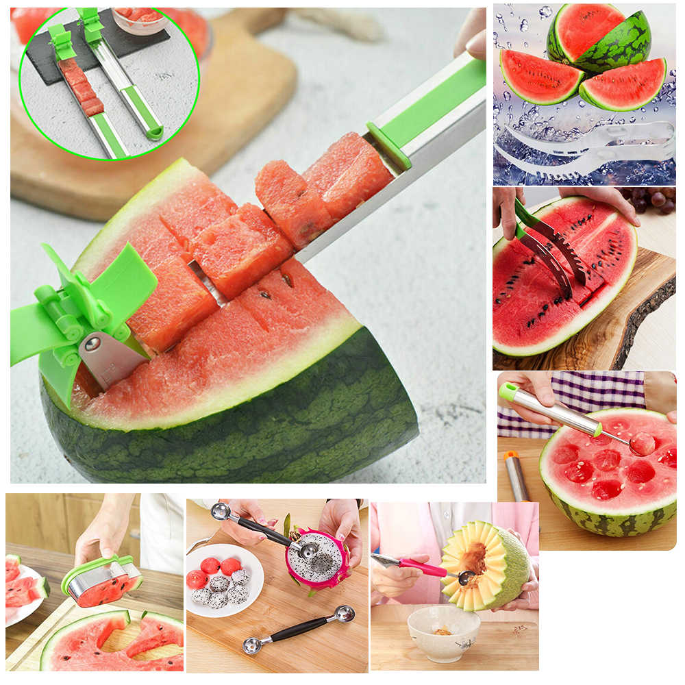 Multifunction Watermelon Cutter Windmill Shape Plastic Slicer fruit tools for Cutting Watermelon decoration Kitchen accessories