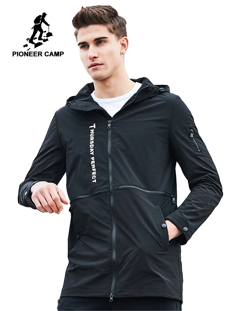 파이어 니어 캠프 새로운 가을 패션 브랜드 자켓 남자 윈드 파커 까마귀 코트 남성 최고 품질의 캐주얼 아웃웨어 남자 ajk707003-에서재킷부터 남성 의류 의  그룹 1