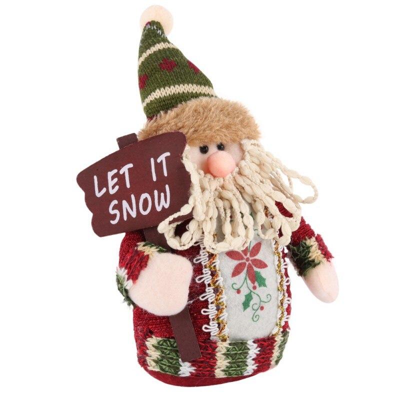Chrismas Tree Decorations For Home Santa Claus Snowman Christmas Gifts Ornaments Supplies Pendant Xmas Elk Ornament 2018